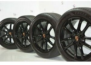"19"" Porsche Panamera Black Wheels Rims Tires Factory OEM Original Set for Sale in Solana Beach, CA"