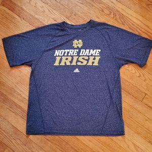 Adidas Climalite Notre Dame Navy Large T-Shirt for Sale in La Grange Park, IL
