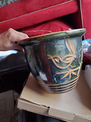 Clay pot- Dark Green for Sale in Colorado Springs, CO