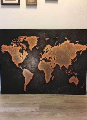 48 X 36 World Map Canvas Wall Painting for Sale in Hacienda Heights, CA