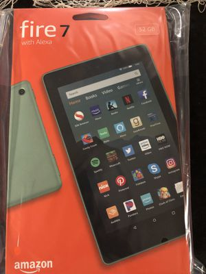 Amazon Fire 7 tablet 32gb +case for Sale in Brooklyn, OH