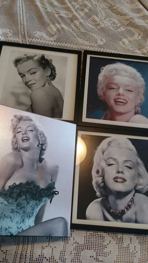 4 frames Marilyn Monroe Glamour Hollywood old town prints $10 each for Sale in Lakewood, CA