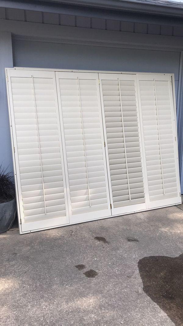 Wooden door shutters