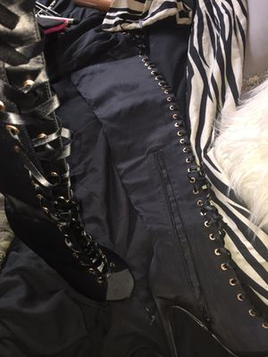 Black thigh high heel boots for Sale in Nashville, TN