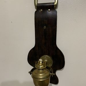 Vintage Brass Oil Lamp wall mount hanging with English burner for Sale in Des Plaines, IL
