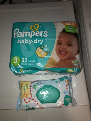 Pampers diapers with wipes for Sale in New Haven, CT