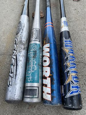 Aluminum baseball bats 25 inches to 29 inches for Sale in Cerritos, CA