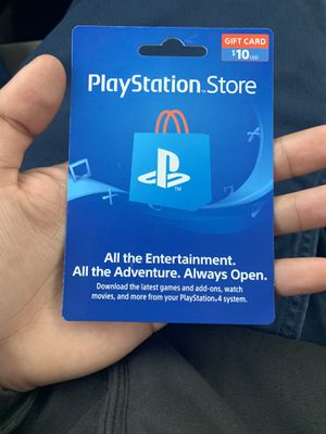 PlayStation $10 card unused brand new unscratched for Sale in Chicago, IL