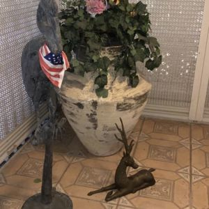 Huge Outdoor Ceramic Planter And Out Door Yard Decor for Sale in Pompano Beach, FL