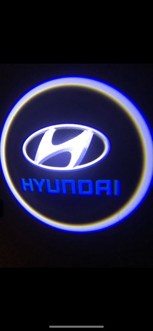 Hyundai car door projector lights shadow lights auto on/off aaa batteries for Sale in Paramount, CA