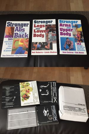 P90X EXTREME HOME FITNESS WORKOUT PROGRAM. Never been used. I'm also including these three like new workout books. for Sale in Mission Viejo, CA