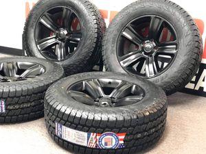 "20"" DODGE RAM 1500 BLACK WHEELS RIMS TIRES 2015 2017 SET 4 2453 Style35"" Tires Package deal 2295.00 BestTires 📍33733 Groesbeck Hwy Fraser, MI 480 for Sale in Sterling Heights, MI"