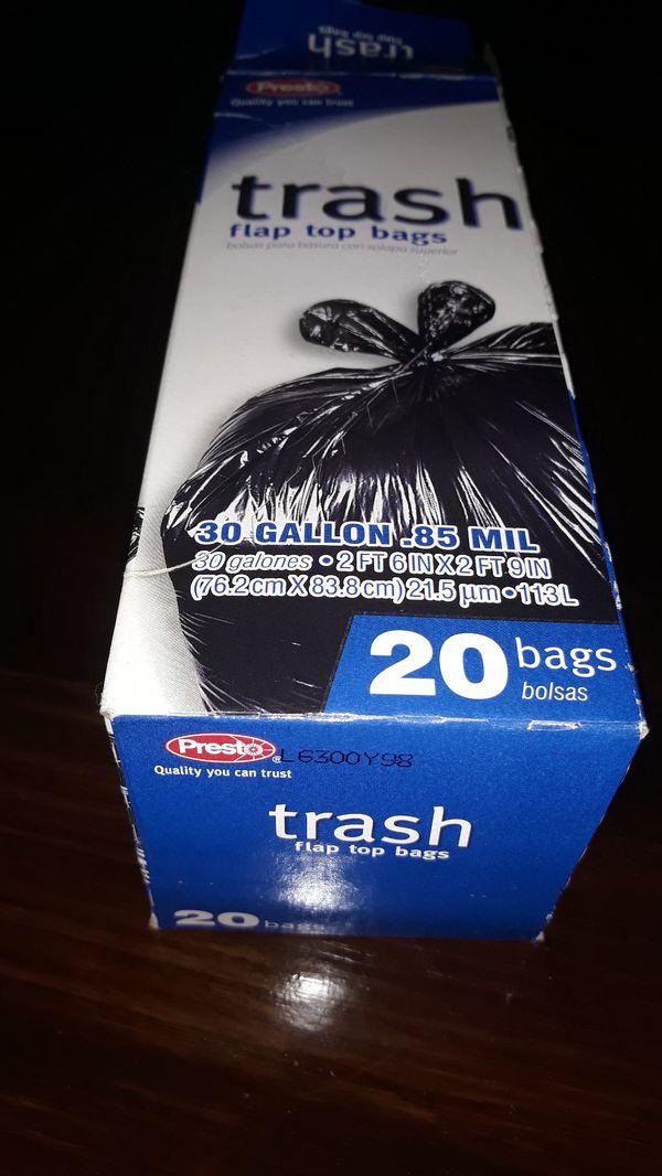 Presto Large Black Trash Bags (Box of 20)