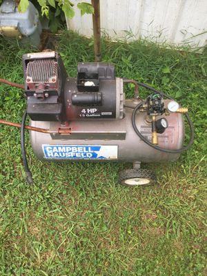 Campbell hausfeld 4 hp 13 gallon air compressor for Sale in Cartersville, GA