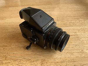 Bronica ETRS medium format film camera including Polaroid back for Sale in San Ramon, CA