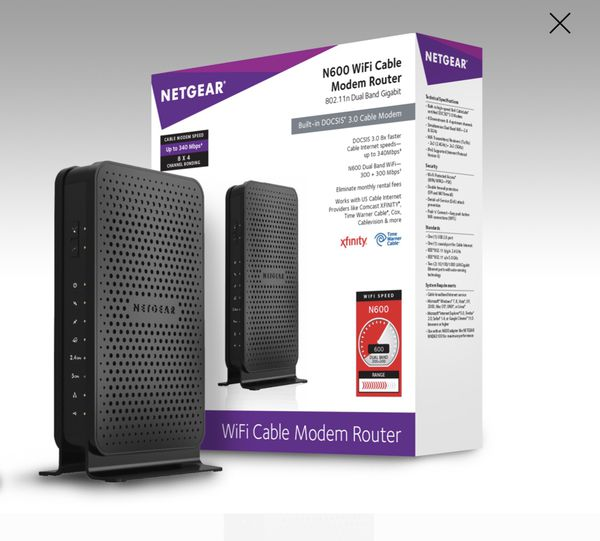 Netgear cable modem router combo for up to 400mbps
