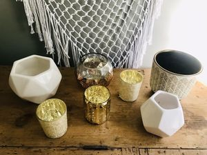 Lot of 7 votive holders vases planters for Sale in Mount Pleasant, SC