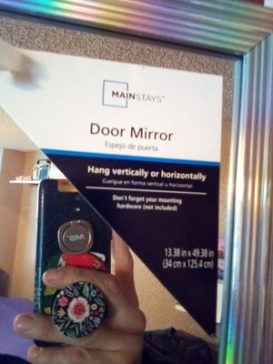 Door mirror full-body mirror to hang on door for Sale in Oklahoma City, OK