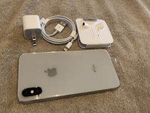 Apple iPhone X Unlocked Silver brand new 10 one year apple warranty I can deliver for Sale in Hayward, CA