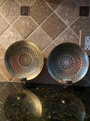 Metal candle sconces- World Market for Sale in Rocky River, OH