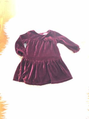 Burgundy baby girl dress 9 mths for Sale in Portland, OR