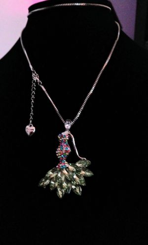 Betsey Johnson beautiful Crystal lady pendant necklace. Brand new for Sale in Panama City Beach, FL