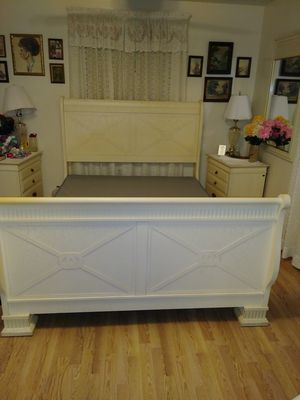 Queen Size Head Board and Frame. Bed only for Sale in Tampa, FL