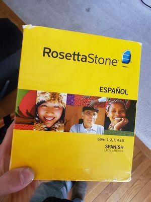 Rosetta stone Spanish version levels 1-5 for Sale in Littleton, CO