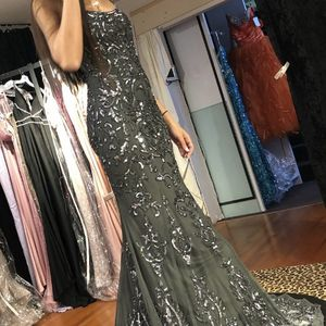 New Gray Bejeweled Prom Dress for Sale in Monroe Township, NJ