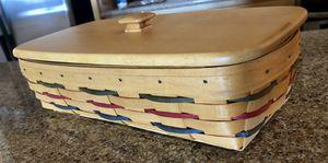 Longaberger Bread basket with plastic liner & lid for Sale in Scottsdale, AZ