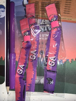 Camp flog gnaw GA wristbands tickets for Sale in Bostonia, CA