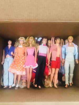 24 vintage dolls mostly Barbie. Ken hi joe babies for Sale in Garland, TX