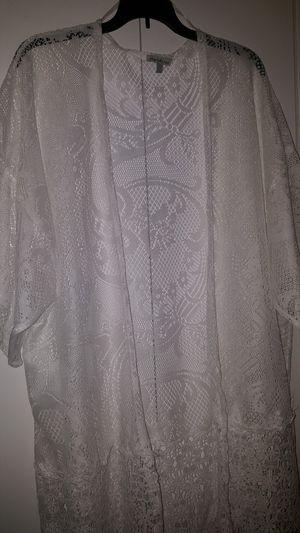 white crochet cardigan for Sale in Tampa, FL