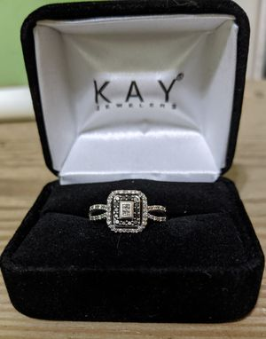 White and black diamond ring size 8 for Sale in Runnells, IA