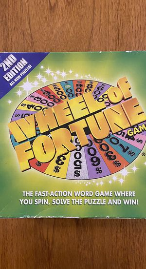 Wheel of Fortune Board Game 2nd Edition for Sale in Phoenix, AZ