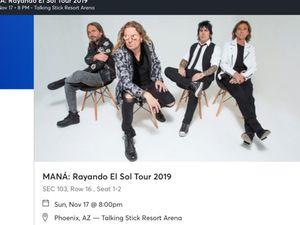 2 tickets mana for Sale in Avondale, AZ