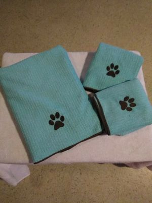 Set of towels for your precious dog. Never been used for Sale in Hyattsville, MD