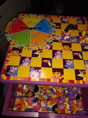 Dora games in wood case for Sale in Jackson, NJ