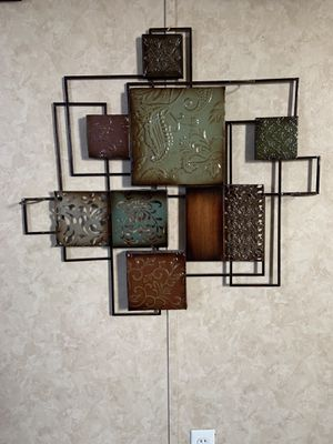 Beautiful Metal Wall Art with candle holders. for Sale in Arlington, TX