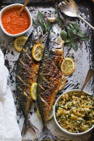 Grilled Tilapia or Mackrel fish with fried plantains for Sale in Hyattsville, MD