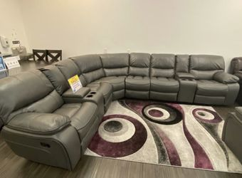 MADRID GRAY RECLINING SECTIONAL SOFA SET ON SALE! WE OFFER NO CREDIT NEEDED FINANCING for Sale in Lakeland,  FL