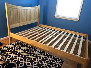 Wooden Queen Bed frame for Sale in Rockville, MD