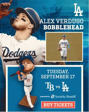 (2) Dodger Tickets - Tampa Bay Rays vs. Dodgers - 9/17/19 @ 7:10PM for Sale in La Puente, CA