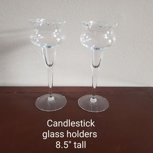 Clear glass candle holders for Sale in Woodridge, IL
