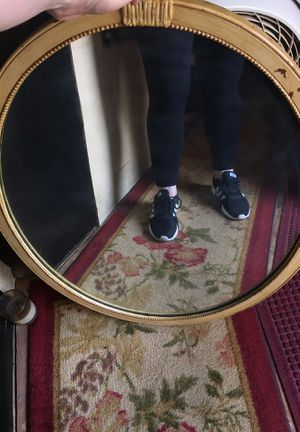 Oval mirror with tan around 22x30 for Sale in Sycamore, IL