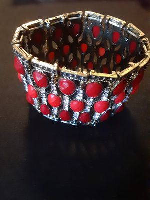 RED BRACELET WITH STONES for Sale in Vacaville, CA