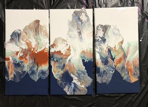 Acrylic pour paintings for Sale in Indianapolis, IN
