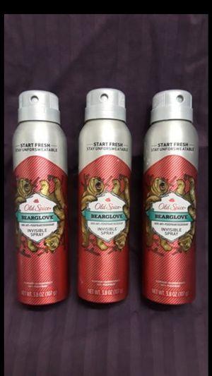 "Old Spice ""Bearglove"" Invisible Spray anti-perspirant deodorant for Sale in Oakland, CA"