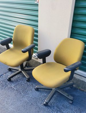 #2 Mustard/green office chairs** for Sale in Austell, GA