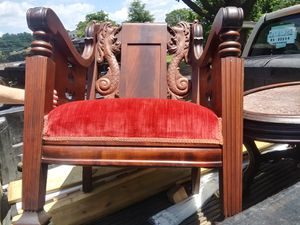 Antique hand carved chair all original great shape never restored for Sale in Fuquay-Varina, NC